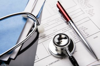 Medical Records &amp Stethoscope